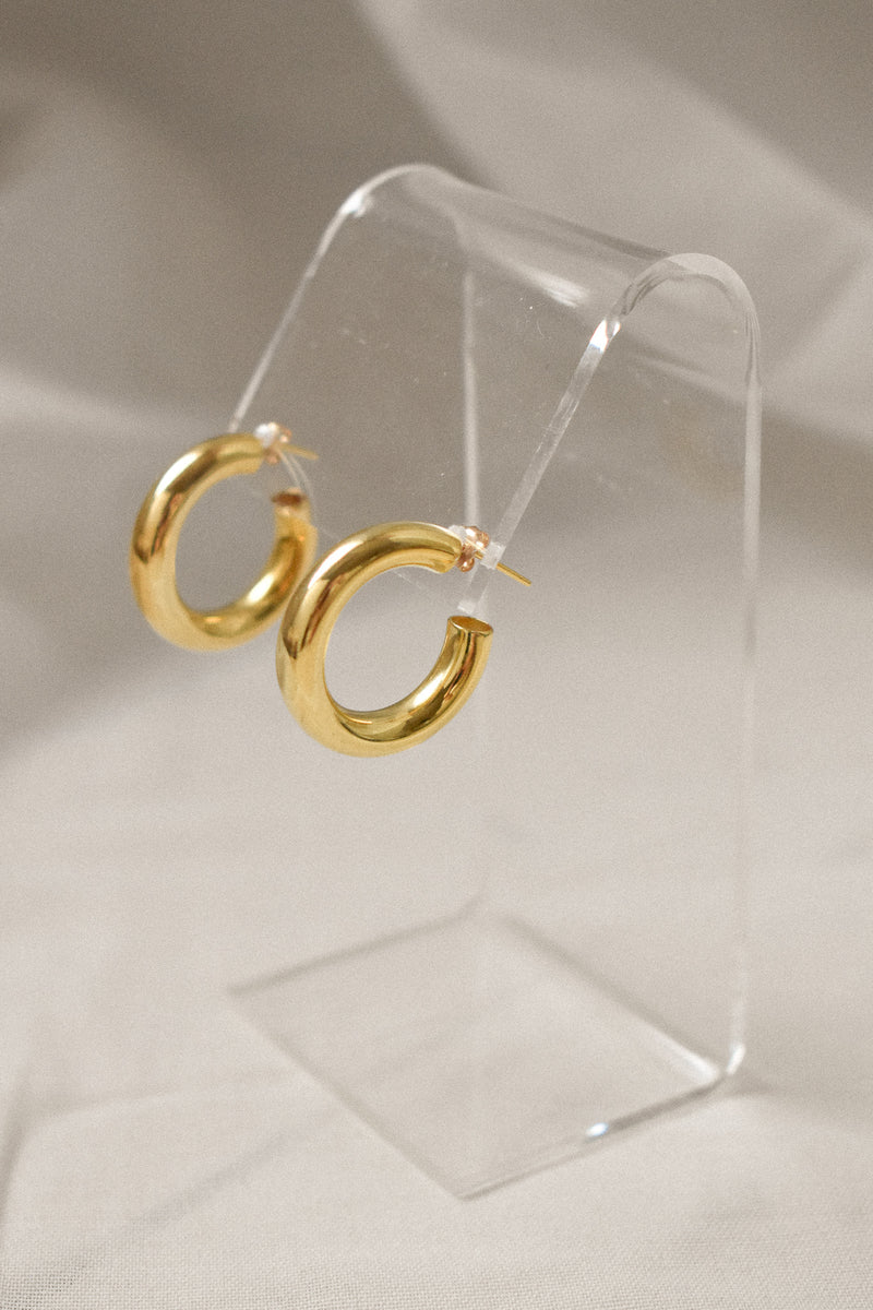 SAMPLE 24 mm Hollow Hoops - Gold