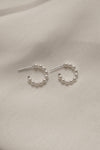 12 mm Hollow Pearl Hoops