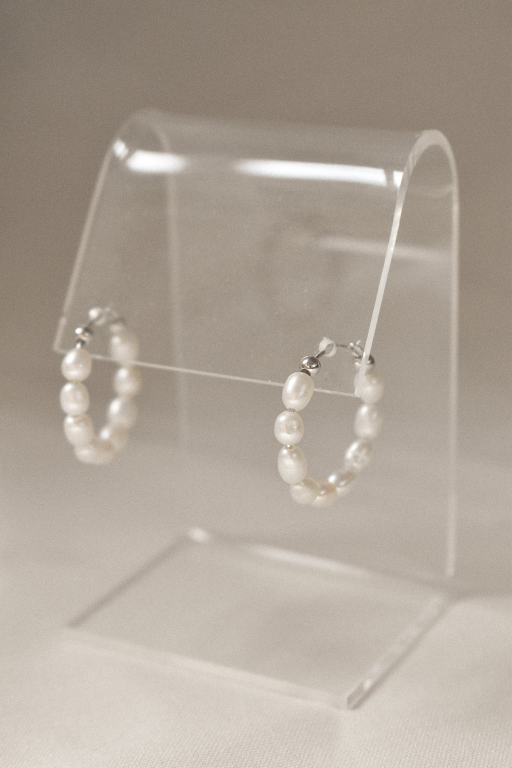 Sample - Freshwater Pearl Hoops