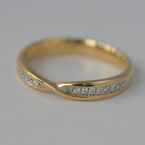 18ct Yellow Gold Twist Eternity Ring