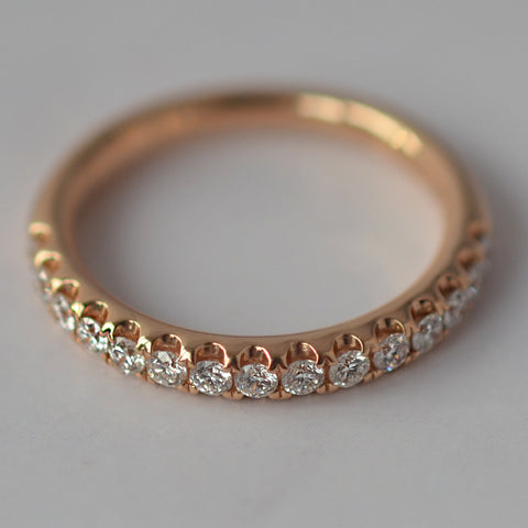 18ct Rose Gold Diamond Eternity Ring