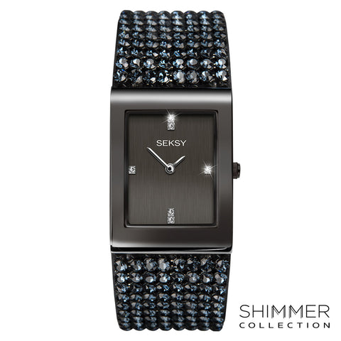 Seksy Shimmer Gun Metal Plated Watch 2725