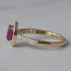 9ct Yellow Gold Ruby & Diamond Halo Cluster Ring