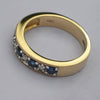 9ct Yellow Gold Sapphire & Diamonds Eternity Ring