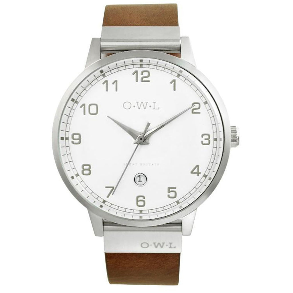O.W.L Brancaster Collection Gents Natural Leather Strap Watch