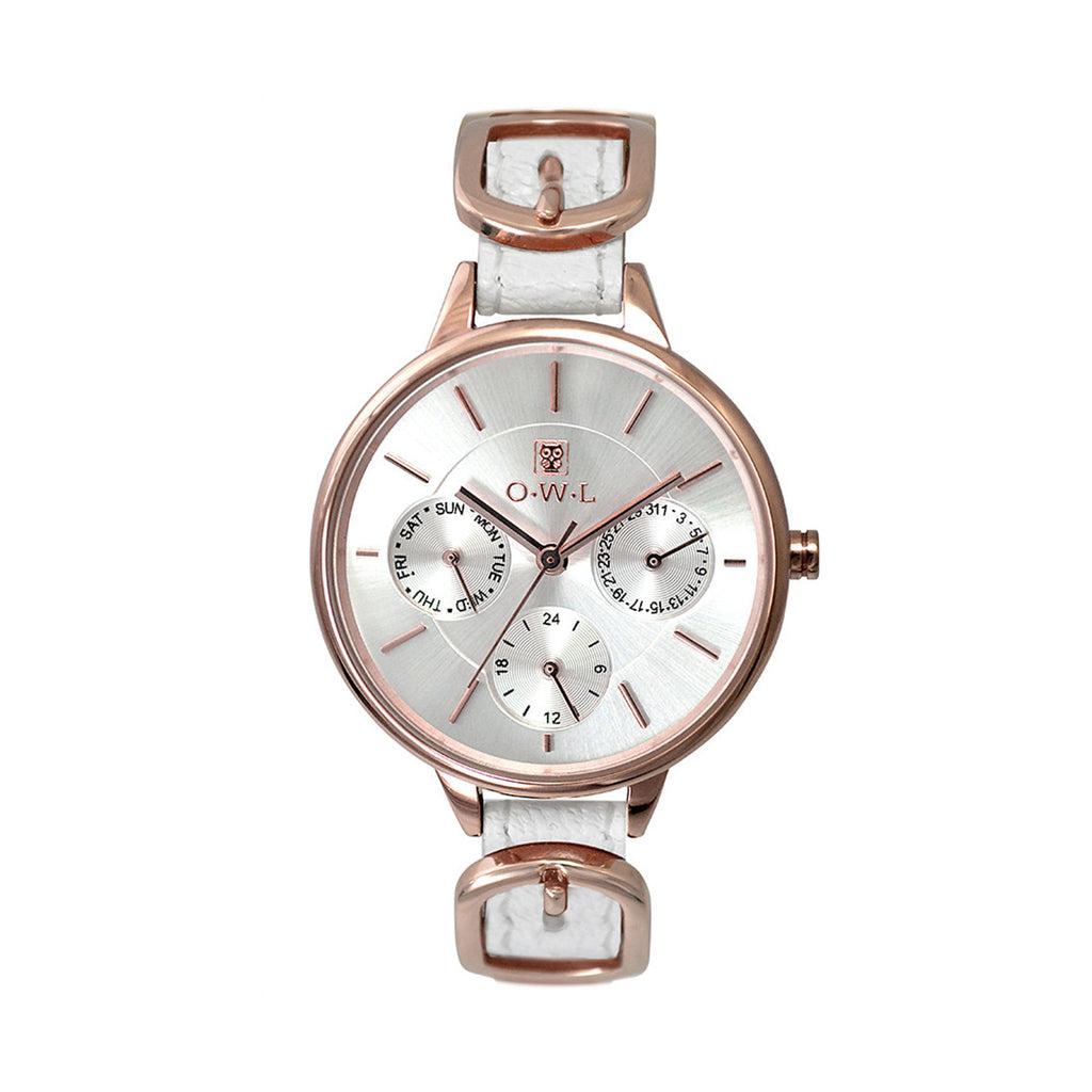 O.W.L Carnaby Collection Ladies White Strap Watch C5SRW