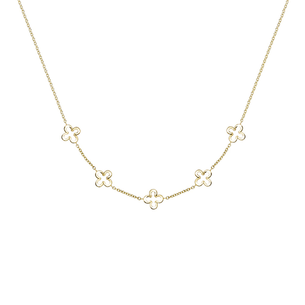 9ct Yellow Gold Classic Motifs Necklet