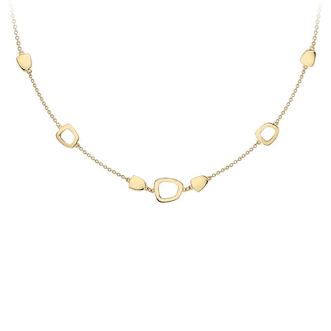 9ct Yellow Gold Contemporary Necklet