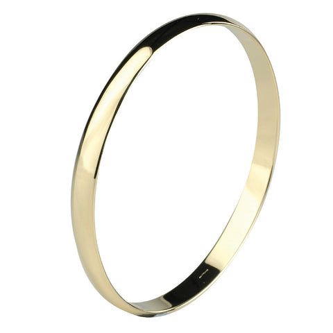 9ct Yellow Gold D Shaped Bangle