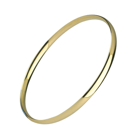 9ct Yellow Gold Court Shaped Bangle
