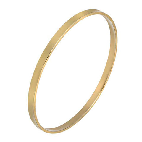 9ct Yellow Gold Rectangular Bangle