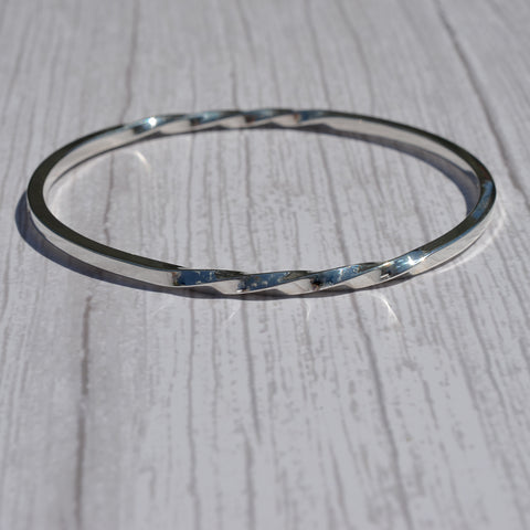 John Garland-Taylor Sterling Silver Bangle