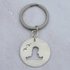 Handmade Medium Round Hayling Island Key Ring