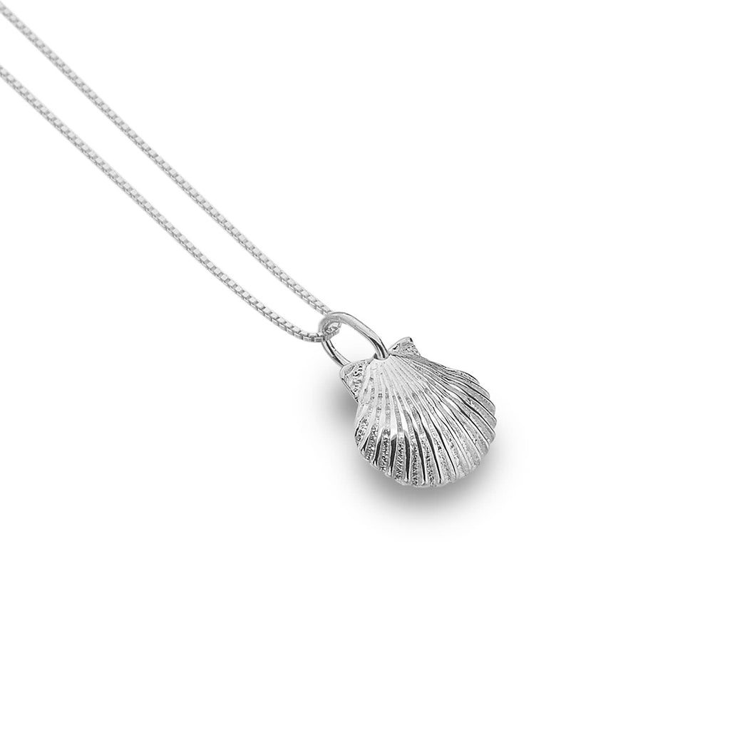 Sterling Silver Scallop Pendant Necklace
