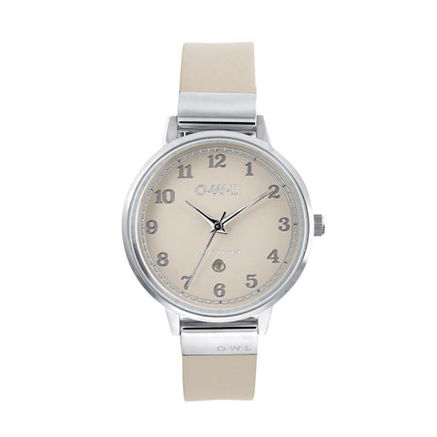 O.W.L Sutton Collection Ladies Stainless Steel Case, Mink Dial & Mink Strap