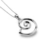 Sterling Silver Nautilus Shell Pendant Necklace