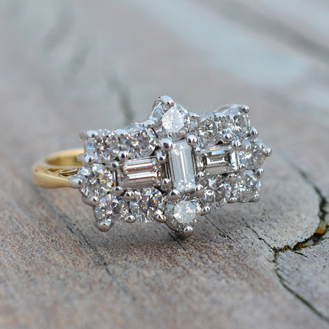 Secondhand Diamond Cluster Ring