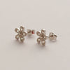 Sterling Silver & Cubic Zirconia Daisy Stud Earrings