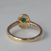 9ct Yellow Gold Emerald and Diamond Oval Cluster Ring