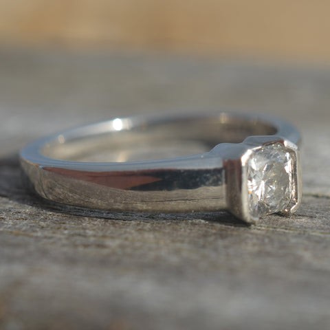 Secondhand Platinum Solitaire Diamond Ring