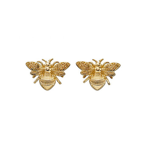 9ct Yellow Gold Bumble Bee Stud Earrings