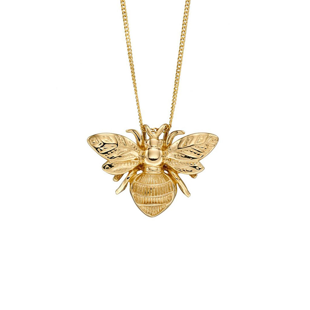 9ct Yellow Gold Bumble Bee Pendant Necklace