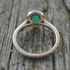 9ct Yellow Gold Emerald & Diamond Oval Cluster Ring