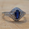 Secondhand 18ct Sapphire & Diamond Ring