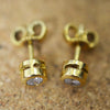 Secondhand 18ct Yellow Gold Diamond Stud Earrings