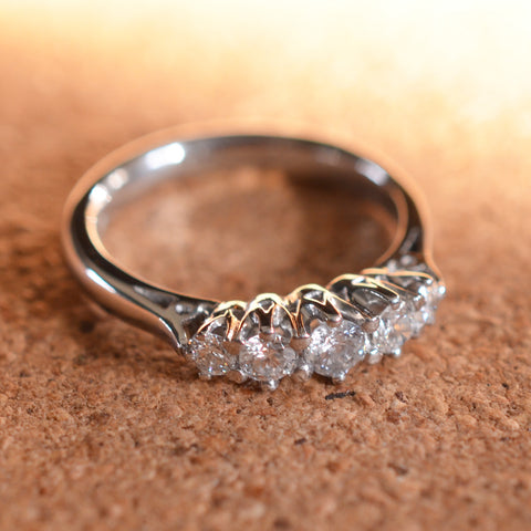 Secondhand Platinum 5 Stone Diamond Ring