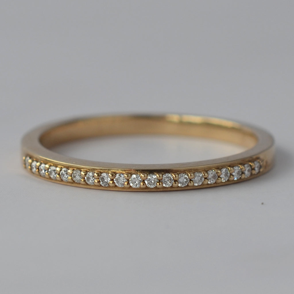 9ct Yellow Gold Small Diamond Eternity Ring