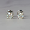 Platinum Diamond Solitaire Stud Earrings