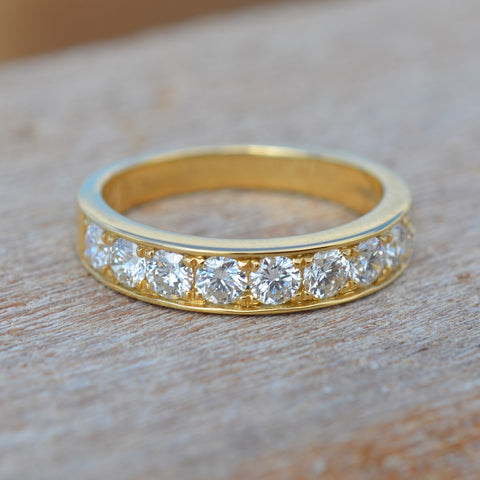 Diamond Half Circle Eternity Ring