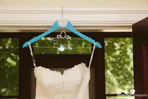 Dustin Hall Photography, Carriage Hanger, Touch of Heart, Custom Wedding Hanger