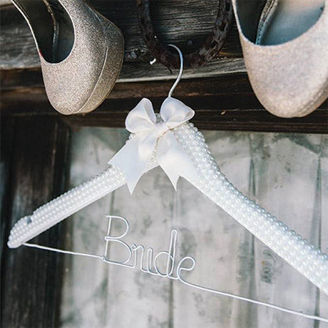 pearl bride wedding hanger ivory wedding hanger