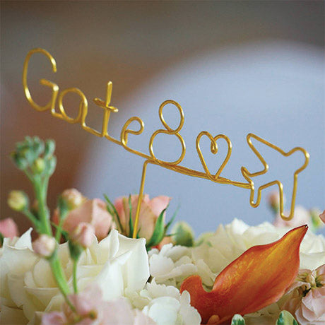 wire table number love is in the air custom table number place setting