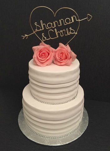 Heart with Arrows Cake Topper