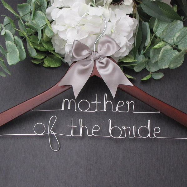 mother of the bride gift mother of the bride hanger Touch of Heart custom wedding hanger