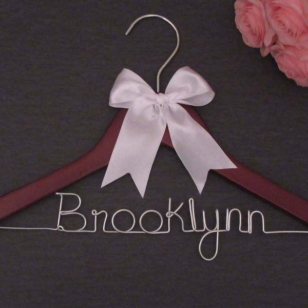kids wedding hanger personalized gift for flower girl brooklynn
