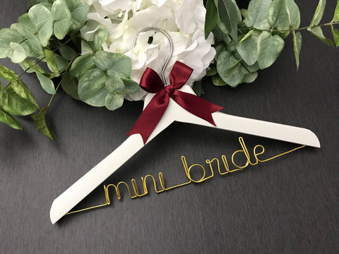 Personalized Children's Hanger - White