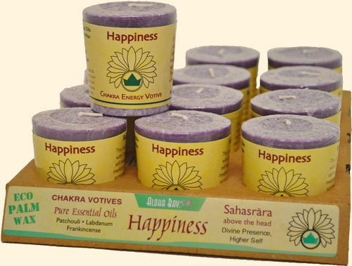 Chakra Energy Votive Candle - Happiness