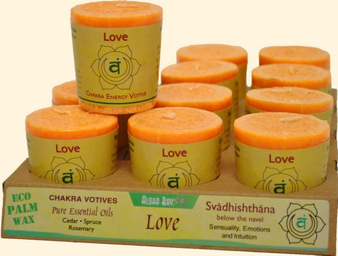 Chakra Energy Votive Candle - Love