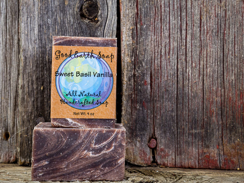 Good Earth Handmade Soap - Sweet Basil Vanilla