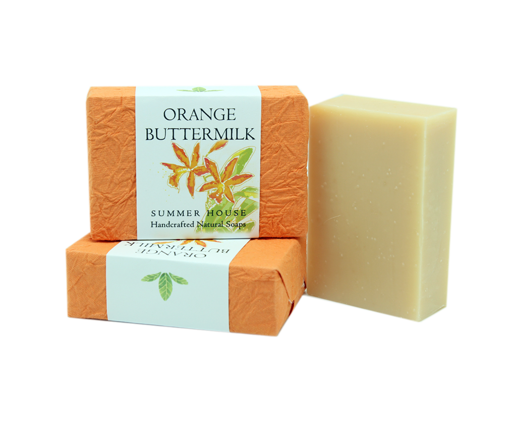 Handcrafted Natural Soaps - Orange Buttermilk