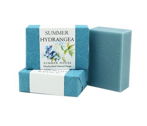 Handcrafted Natural Soaps - Summer Hydrangea
