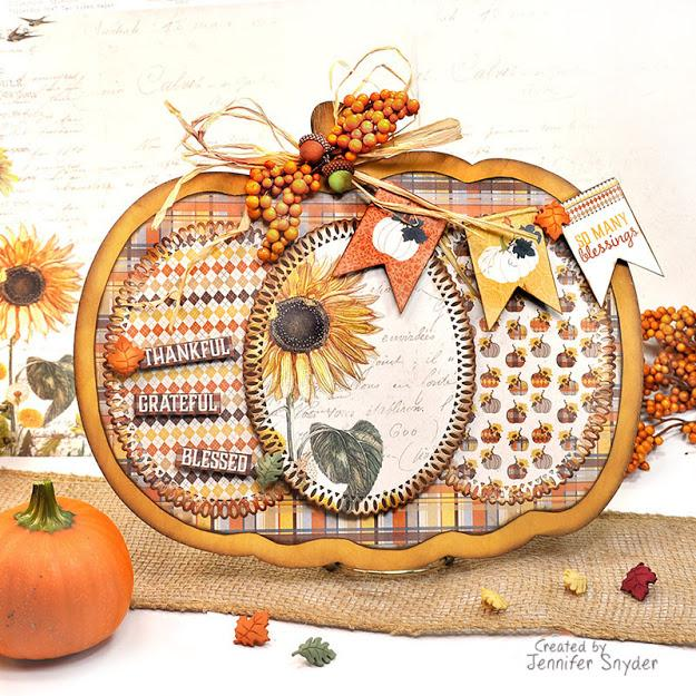 Autumn Pumpkin DIY Home Decor with Instructions | Buttons Galore and More