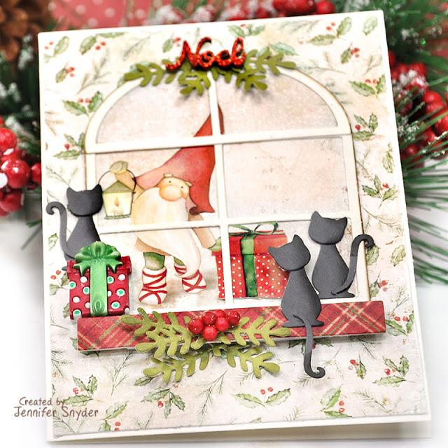 Christmas Kitties And Christmas Gnomes DIY Card | Buttons Galore and More