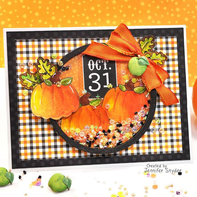 DIY Cute Halloween Shaker Card | Buttons Galore and More