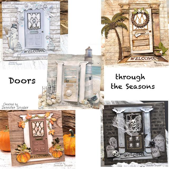DIY Door Cards- Doors Through The Seasons | Buttons Galore and More