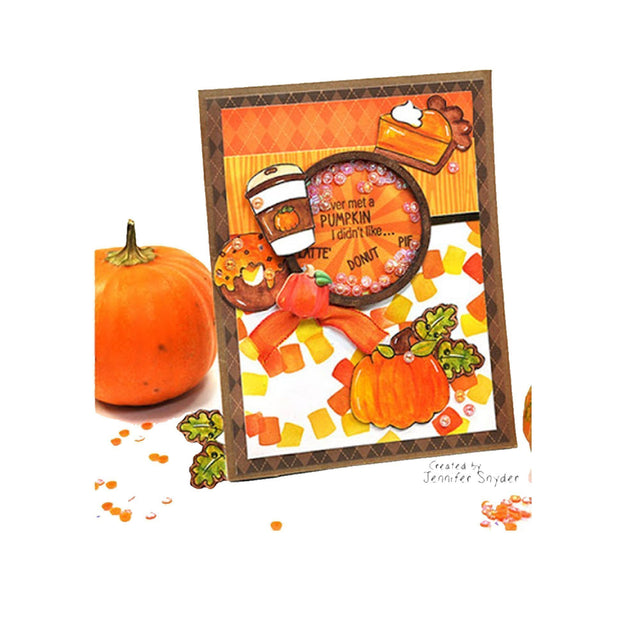 DIY Pumpkin Lover Shaker Card | Buttons Galore and More